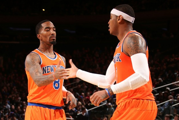 J.R. Smith y Carmelo Anthony./ Getty Images