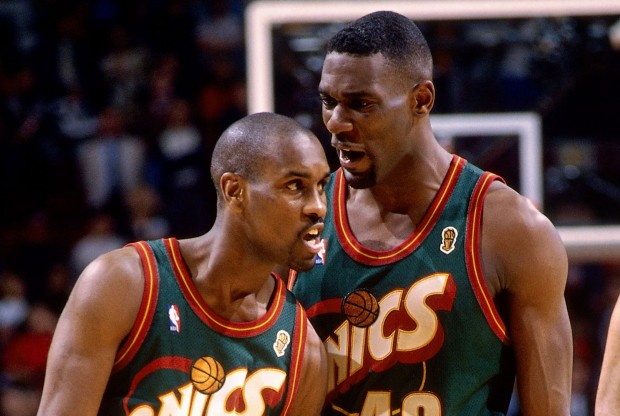 Gary Payton y Shawn Kemp./ Getty Images