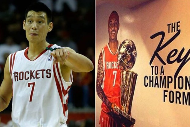 Jeremy Lin y Carmelo Anthony./ Getty Images - Twitter