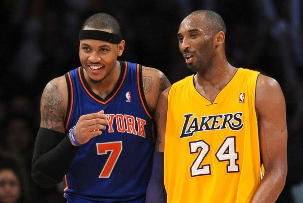 Carmelo Anthony y Kobe Bryant./ Getty Images