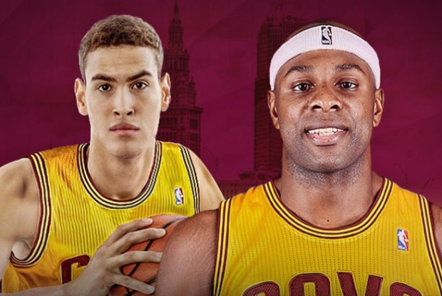 Dwight Powell  Brendan Haywood./ Cleveland Cavaliers