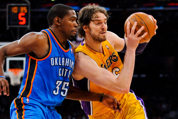 Pau Gasol y Kevin Durant / Getty Images