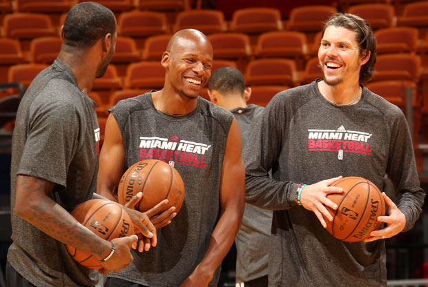 LeBron James, Ray Allen, Mike Miller / Getty Images