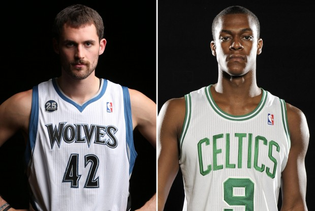 Kevin Love y Rajon Rondo./ Getty Images