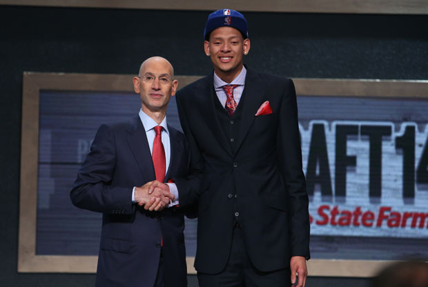 Isaiah Austin y Adam Silver / Getty Images