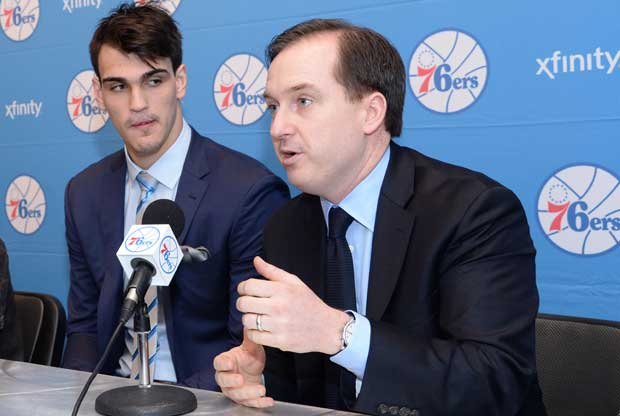 Dario Saric, Sam Hinkie / Getty Images