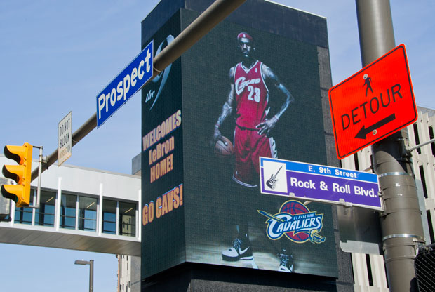 LeBron James publicidad Cleveland / Getty Images