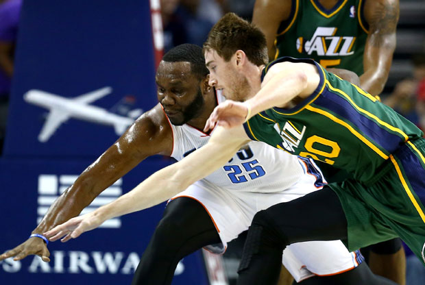 Gordon Hayward y Al Jefferson / Getty Images