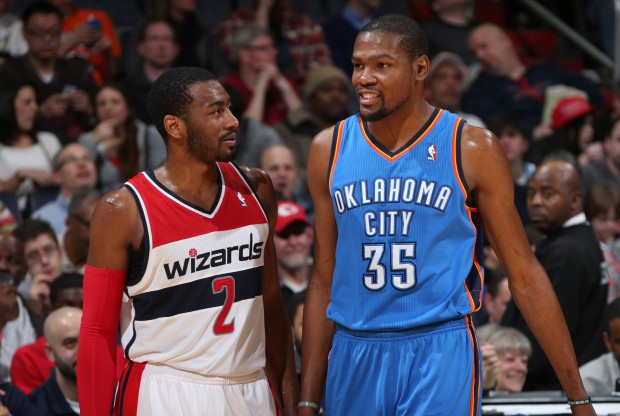 John Wall y Kevin Durant./ Getty Images