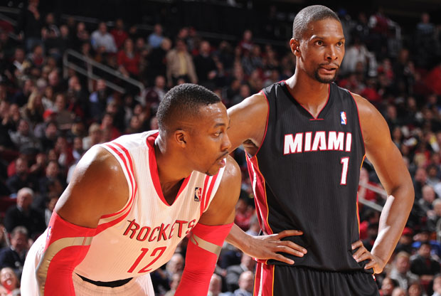 Chris Bosh y Dwight Howard / Getty Images