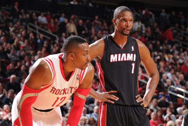 Dwight Howard y Chris Bosh./ Getty Images