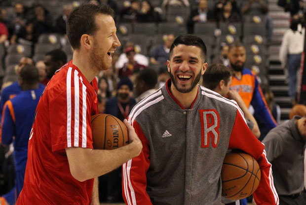Steve Novak y Greivis Vásquez / Getty Images