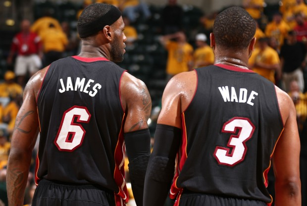 LeBron James y Dwyane Wade./ Getty Images