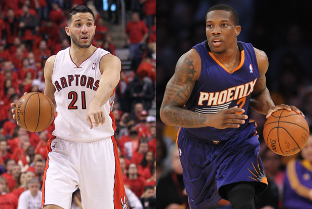Greivis Vasquez y Eric Bledsoe / Getty Images