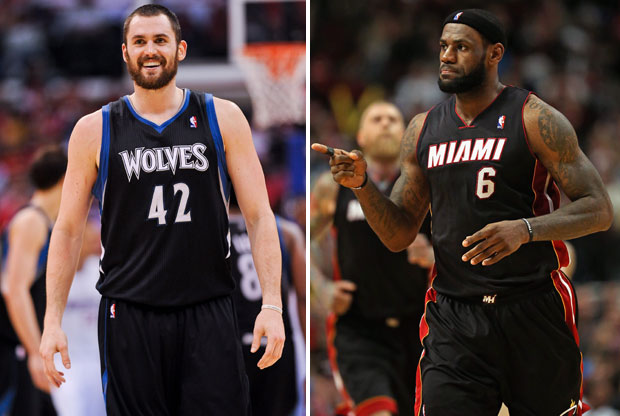 Kevin Love y LeBron James / Getty Images
