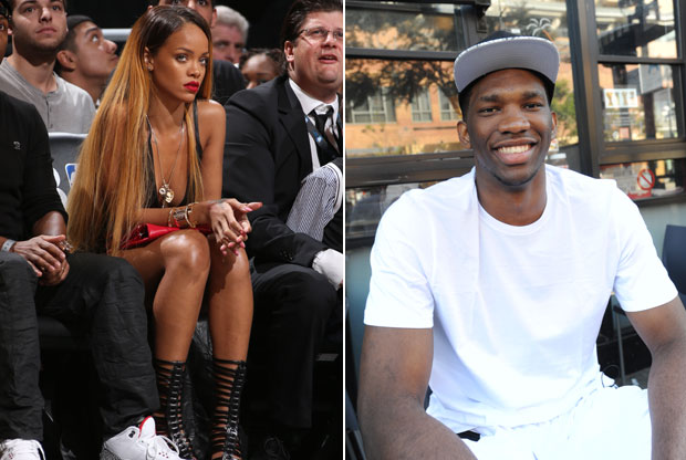 Rihanna y Joel Embiid / Getty Images