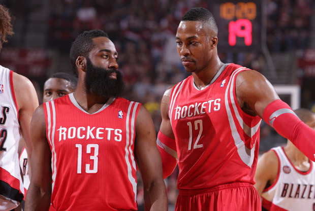James Harden y Dwight Howard / Getty Images