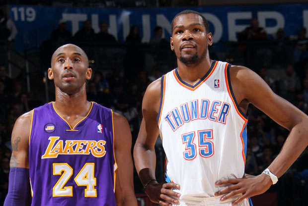 Kobe Bryant y Kevin Durant / Getty Images