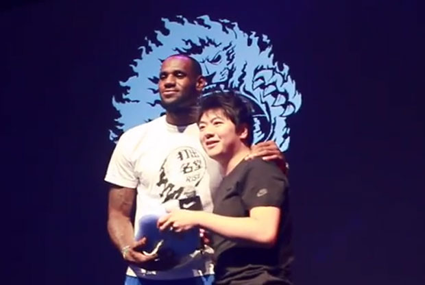 LeBron James y Lang Lang