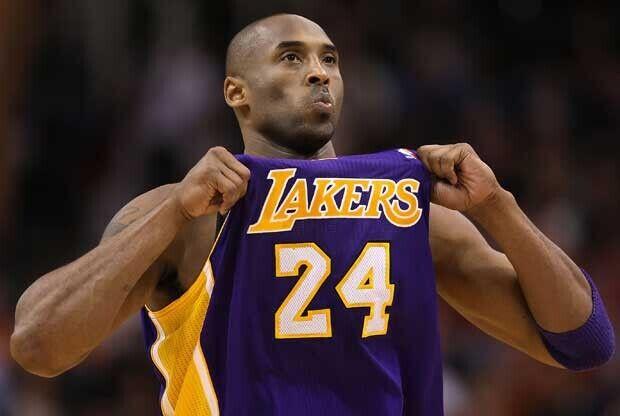 Kobe Bryant con la camiseta de Los Angeles Lakers