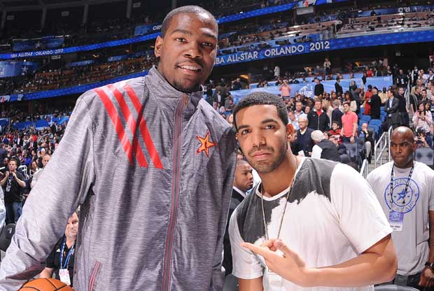 Kevin Durant, Drake / Getty Images