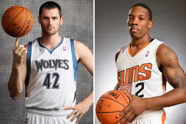 Kevin Love y Eric Bledsoe./ Getty Images