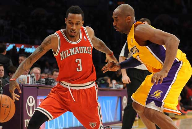 Brandon Jennings, Kobe Bryant / Getty Images