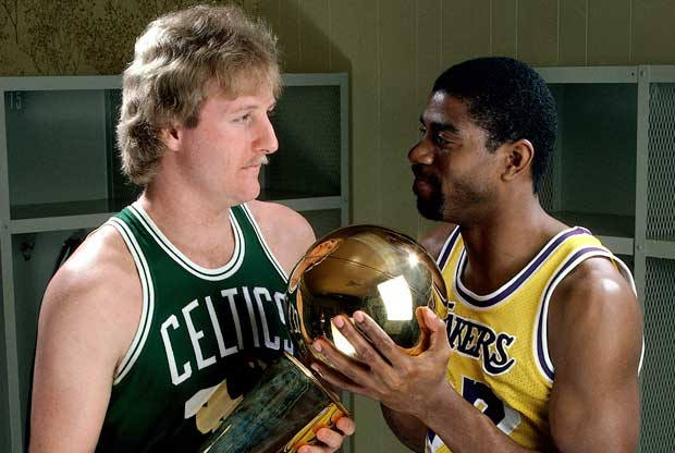 Larry Bird y Magic Johnson / Getty Images