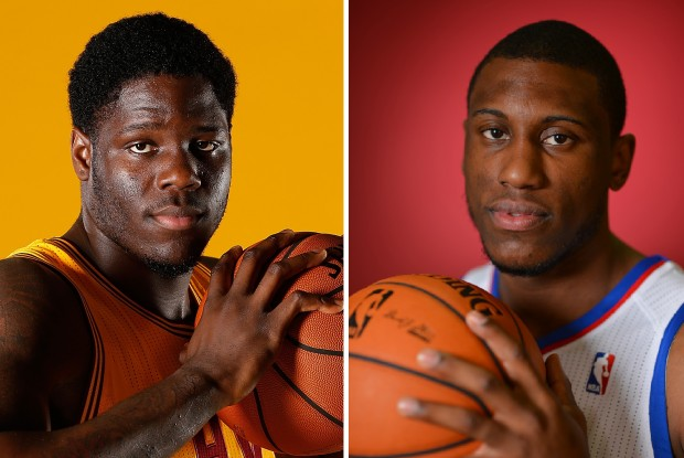 Anthony Bennett y Thaddeus Young./ Getty Images