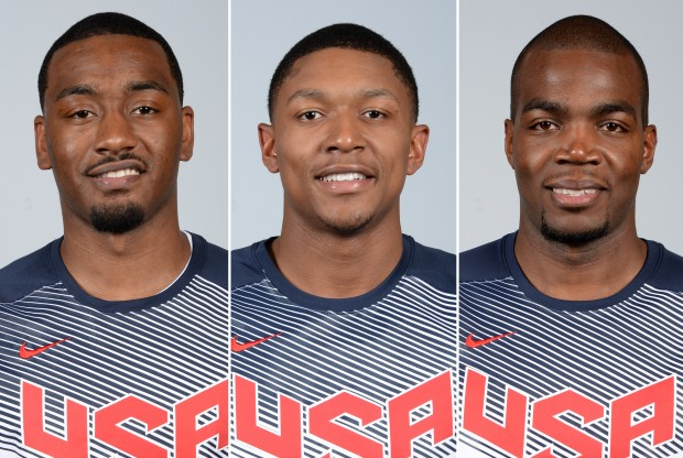 John Wall, Bradley Beal y Paul Millsap./ Getty Images