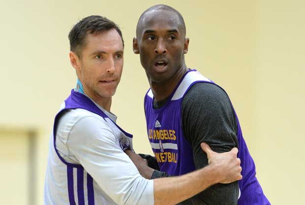 Steve Nash, Kobe Bryant / Getty Images