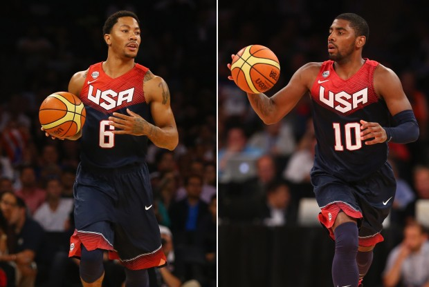 Derrick Rose y Kyrie Irving./ Getty Images