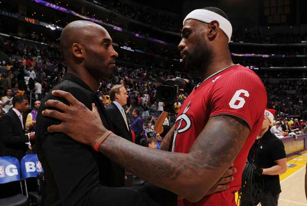 Kobe Bryant, LeBron James / Getty Images