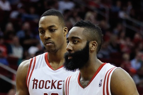 Dwight Howard y James Harden./ Getty Images