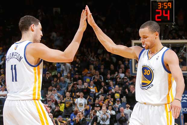 Klay Thompson, Stephen Curry / Getty Images