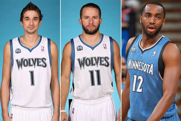 Alexey Shved, JJ Barea, Luc Mbah A Moute / Getty Images