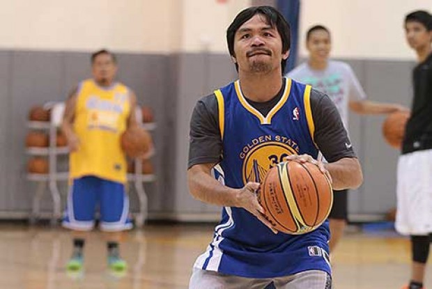 Manny Pacquiao./ Golden State Warriors