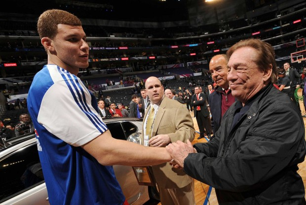 Blake Griffin y Donald Sterling./ Getty Images