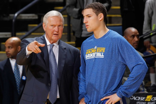 Jerry West y Klay Thompson./ Getty Images