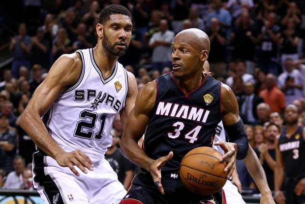 Tim Duncan, Ray Allen / Getty Images