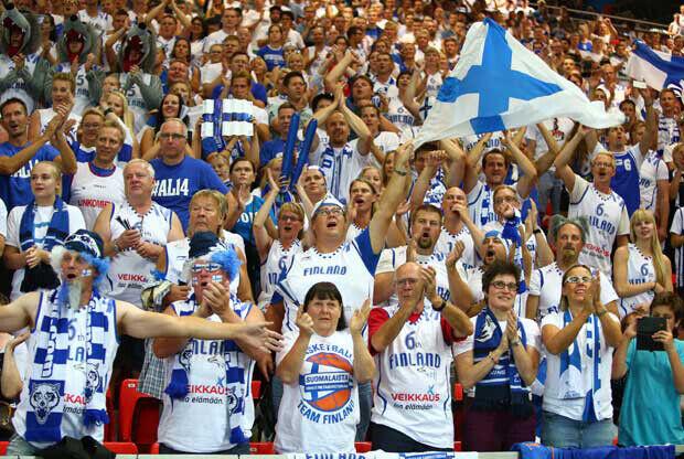 Afición finlandesa./ FIBA
