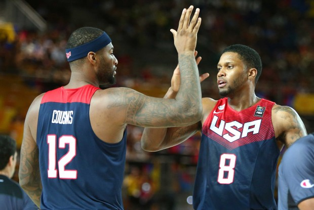 DeMarcus Cousins y Rudy Gay./ Getty Images