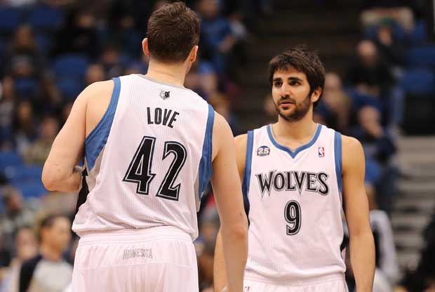 Ricky Rubio, Kevin Love / Getty Images