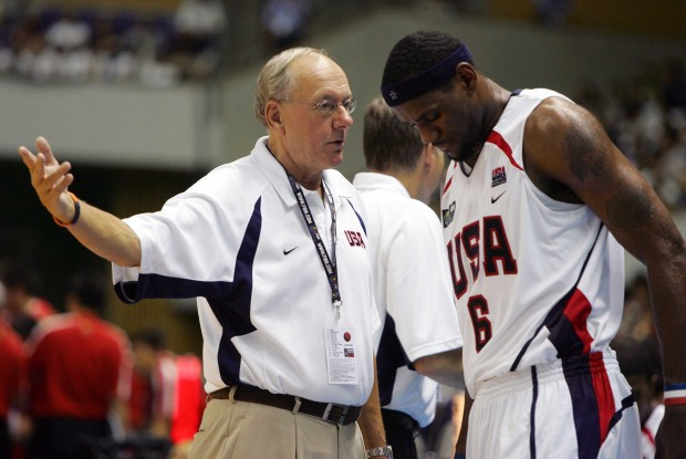 Jim Boeheim y LeBron James./ Getty Images
