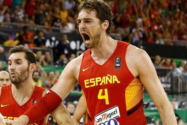Pau Gasol hace vibrar con la selección española