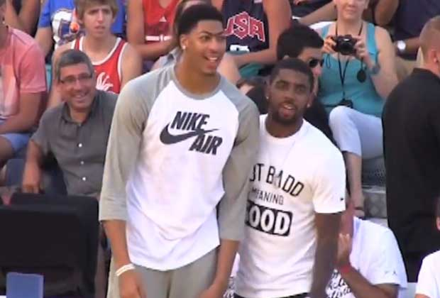 Anthony Davis y Kyrie Irving