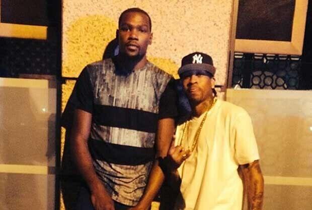 Kevin Durant y Allen Iverson / Instagram