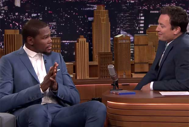 Kevin Durant y Jimmy Fallon / Youtube