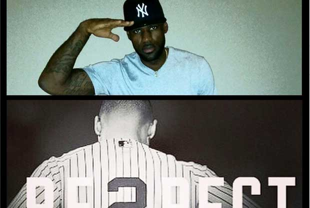 Derek Jeter, LeBron James / Instagram