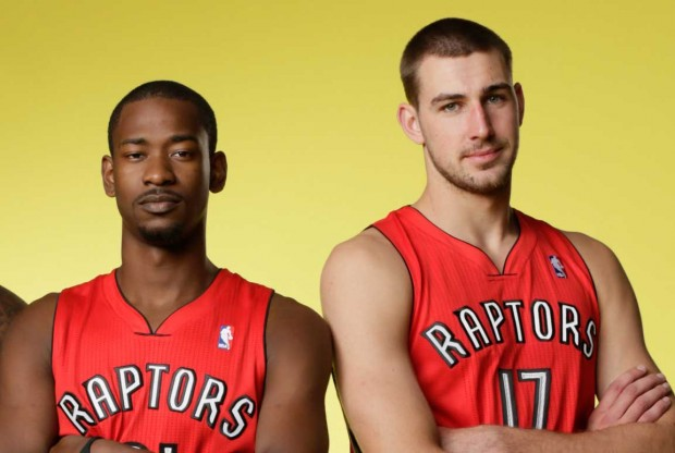 Terrence Ross y Jonas Valanciunas./ Getty Images